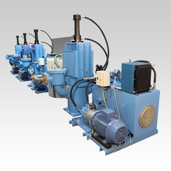 Row of Ram Pumps